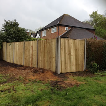Garden fencing in Bearsted